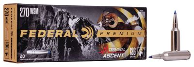 Federal Premium Terminal Ascent Big Game Centerfire Rifle Ammo – .270 WSM Win Short Mag