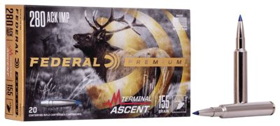 Federal Premium Terminal Ascent Big Game Centerfire Rifle Ammo – .280 Remington Ackley Improved