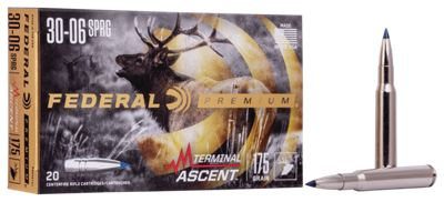 Federal Premium Terminal Ascent Big Game Centerfire Rifle Ammo – .30-06 Springfield