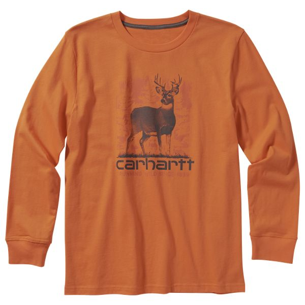 Carhartt Running Wild Graphic Long-Sleeve T-Shirt for Toddlers or Boys - Blaze Orange - 3T thumbnail