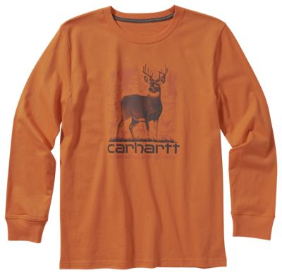 Carhartt Running Wild Graphic Long-Sleeve T-Shirt for Toddlers or Boys - Blaze Orange - 4T thumbnail