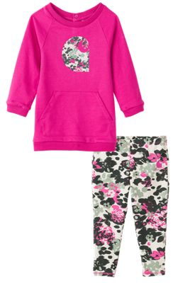 Carhartt 2 Piece Printed Tunic and Leggings Set for Babies 12 Months