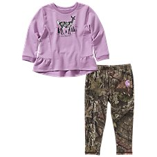 Carhartt 2-Piece Long-Sleeve Top and Leggings Set for Baby Girls