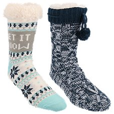 Natural Reflections Cozy Socks for Ladies 2-Pair Pack Image