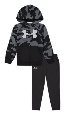 Under Armour Fury Camo Long-Sleeve Hoodie and Pants Set for Kids – Black Fury Camo – 5