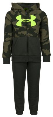 Under Armour Fury Camo Long-Sleeve Hoodie and Pants Set for Kids – Green Fury Camo – 6