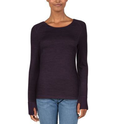 Terramar Cloud Nine 4-Way Stretch Brushed Long Sleeve Scoop Neck