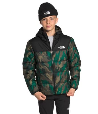The North Face Perrito Reversible Jacket for Boys – Evergreen Mountain Camo – L