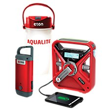 Eton FRX3+ Self-Powered Weather Alert Radio, Clipray, and AquaLite Extreme Adventure Kit Image