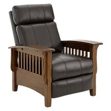 Best Home Furnishings Tuscan Leather Pushback Power Recliner