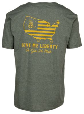 511 Tactical Give Me Liberty Short Sleeve T Shirt for Men Military Green Heather 2XL