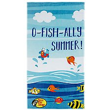 Bass Pro Shops O-Fish-Ally Summer Beach Towel for Kids Image