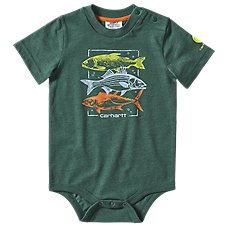 Carhartt Fish Stack Heather Graphic Short-Sleeve Bodysuit for Babies Image