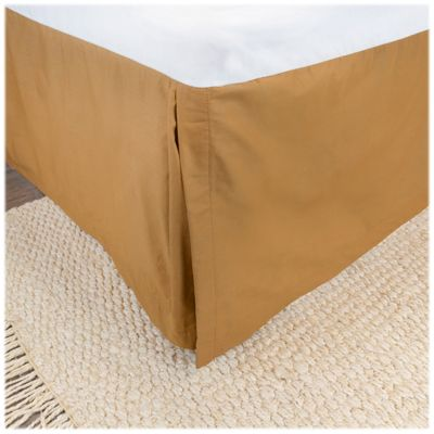 DONNA SHARP ~ PISTACHIO BROWN BED SKIRT// DUST RUFFLE OR EURO SHAM
