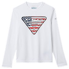 Columbia Terminal Tackle PFG Triangle Fill Flag Graphic Long-Sleeve Shirt for Kids Image