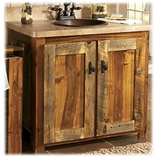 Mountain Woods Furniture Wyoming Collection Vanity Base with Top