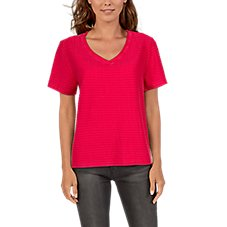 Natural Reflections Horizon Stripe Terry Short-Sleeve T-Shirt for Ladies Image