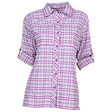 World Wide Sportsman Guide Plaid Long-Sleeve Shirt for Ladies Image