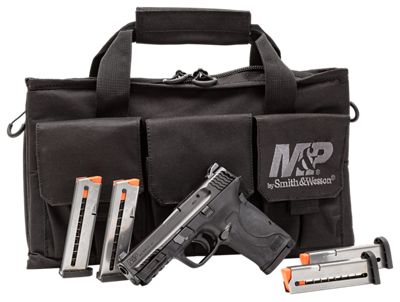 Smith & Wesson M&P Shield EZ without Thumb Safety Semi-Auto Pistol Range Kit with 5 Magazines, M&P Pro Tac Single Handgun Case thumbnail