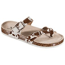 Natural Reflections Maggie Buckle Toe Loop Sandals for Ladies Image