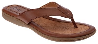 B.O.C. Zita Toe Post Sandals for Ladies Brown 10M