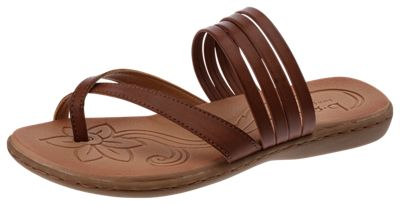 B.O.C. Alisha Toe Loop Sandals for Ladies Brown 10M