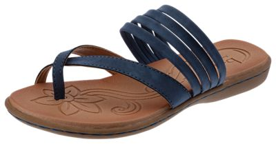 B.O.C. Alisha Toe Loop Sandals for Ladies Blue 8M