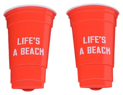 Image of O2Cool Life's A Beach Cup Boca Clips 2-Pack