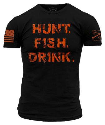 Grunt Style Realtree AP Blaze Hunt, Fish, and Drink Short-Sleeve T-Shirt for Men