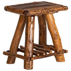 Mountain Woods Furniture Rustic Lodge End Table