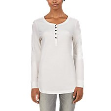 Natural Reflections Thermal Long-Sleeve Henley for Ladies Image