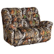 Best Home Furnishings Outdoorsman Furniture Collection Reclining Space Saver Love Seat