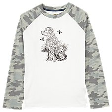 Outdoor Kids Lab Graphic Raglan Long-Sleeve T-Shirt for Toddlers or Boys Image
