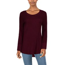 Natural Reflections Taney Ribbed Long-Sleeve Sweater for Ladies Image