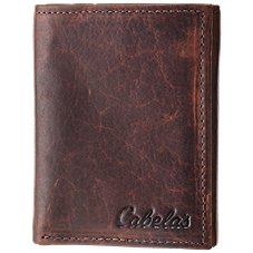 Cabela's American Bison Leather Trifold Wallet