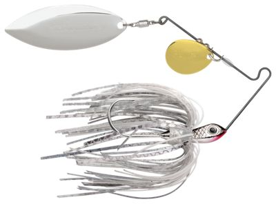 Terminator S-1 Super Stainless Tandem Spinnerbait – 1/2 oz. – Silver Shad
