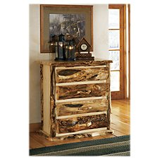 Mountain Woods Furniture Extra-Gnarly Quakie Log Four-Drawer Chest