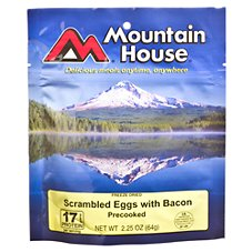 Mountain House Freeze Dried Scrambled Eggs with Bacon Single Serve Breakfast