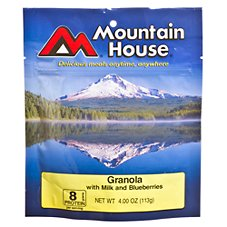 Mountain House Freeze Dried Granola with Milk and Blueberries Single Serve Breakfast