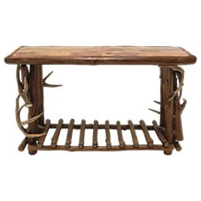 Mountain Woods Furniture Rustic Lodge Collection Sofa Table