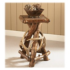 Mountain Woods Furniture Rustic Lodge Accent Table