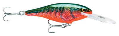 Rapala SR09 Shad Rap Hard Baits – Red Crawdad