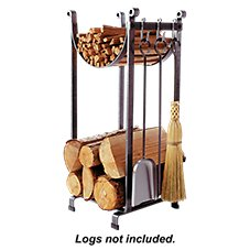 Enclume Sling Fireplace Log Rack with Bar and Tools