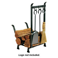 Enclume Country Home Fireplace Log Rack with Tools
