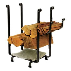 Enclume Rectangle Fireplace Log Rack with Newspaper Holder