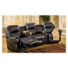 Best Home Furnishings Bodie 3-Seat Leather Sectional