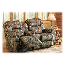 Best Home Furnishings Bodie Camo Furniture Collection Love Seat with Console and Power Recliner