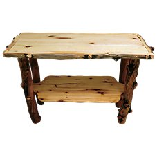 Mountain Woods Furniture Grizzly Furniture Collection Sofa Table
