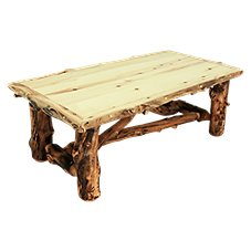 Mountain Woods Furniture Grizzly Log Coffee Table