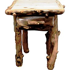 Mountain Woods Furniture Grizzly One-Drawer End Table